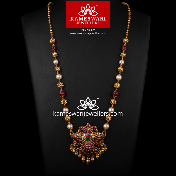 Extravagant Medly of Uncut Ruby and Pearls